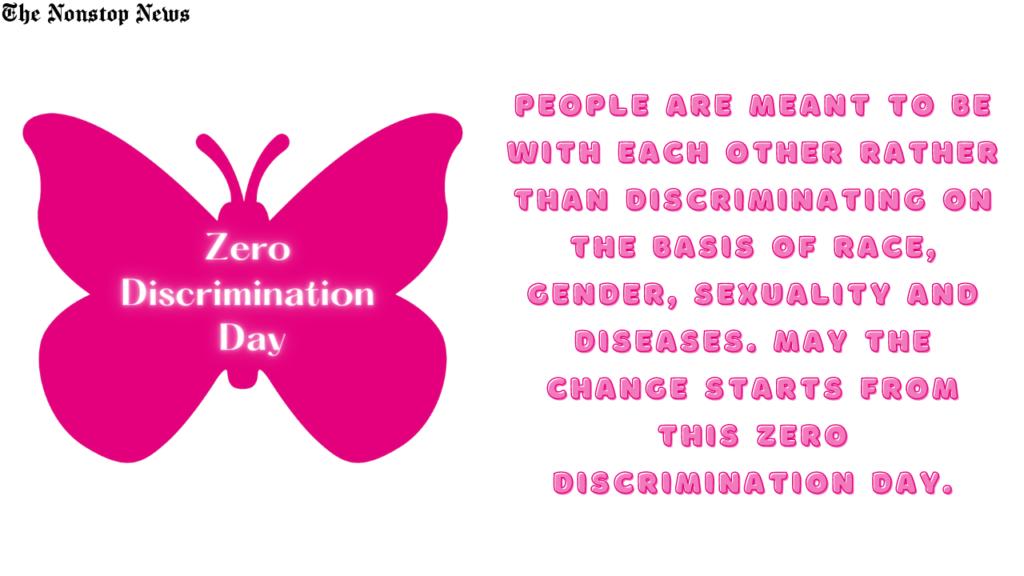 Zero Discrmination Day
