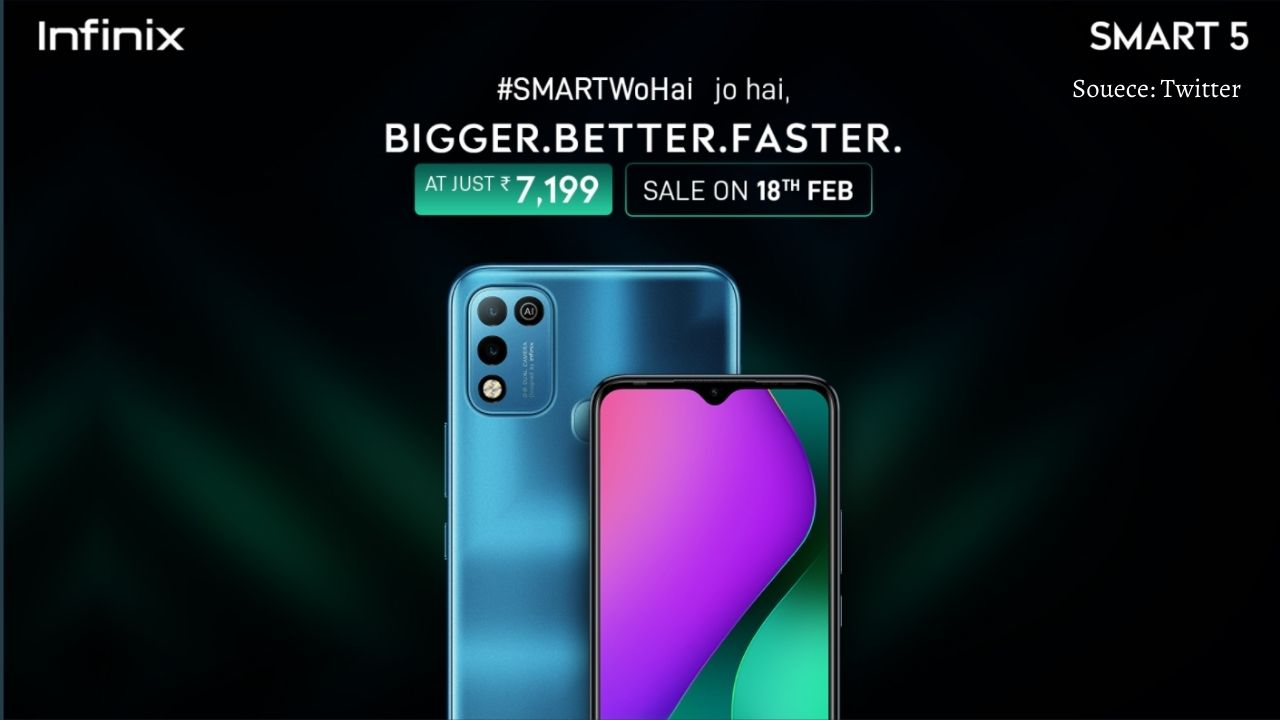 Infinix smart 5 launched in india at a good price of Rs 7,199 #InfinixSmart5