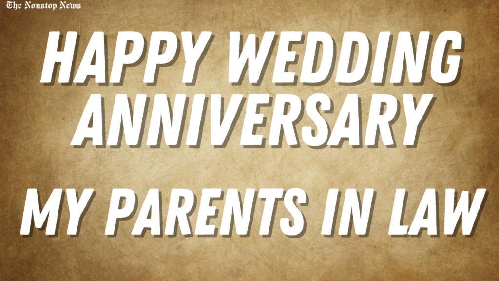 Happy wedding anniversary.
