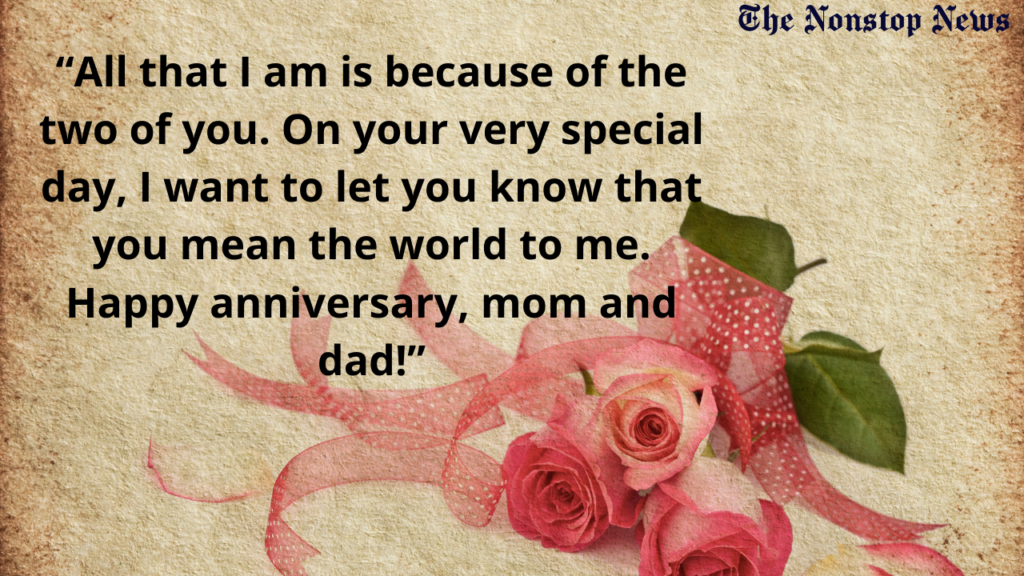 Marriage Anniversary greetings for Mother and father