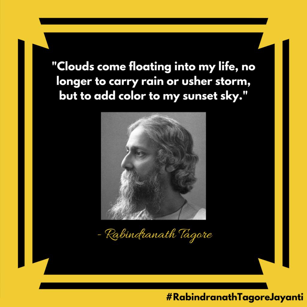Rabindranath Tagore Jayanti Poster