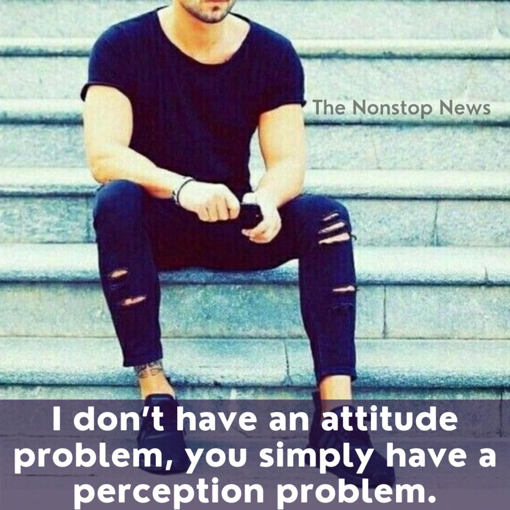 Attitude Caption for Boys