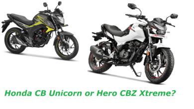 Which is better Honda CB Unicorn or Hero Bikes CBZ Xtreme?