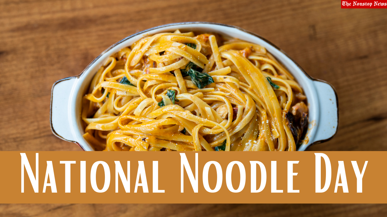 National Noodle Day (US) 2021 Images, Wishes, Sayings, Captions, Meme, and Social Media Posts to share